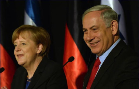 PM Netanyahu at press conference with Chancellor Angela Merkel